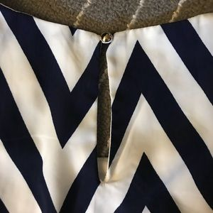 Francesca's Collections Dresses - Navy and white chevron dress